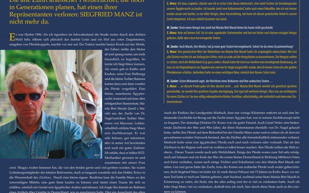 Siegfried Manz – ein Freund und Züchterkollege ist verstorben …